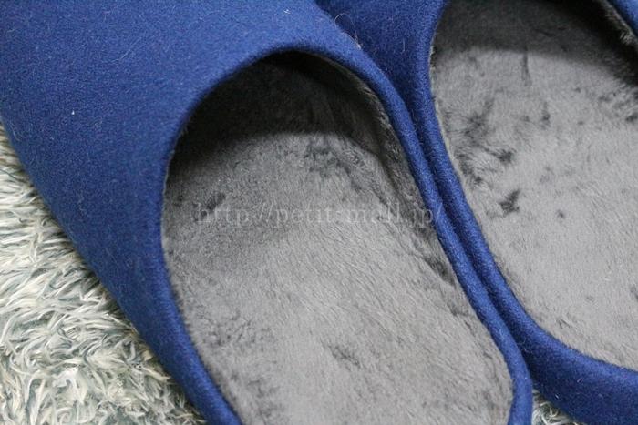 足にフィットするへたりにくいスリッパ 中はマイクロファイバー素材
