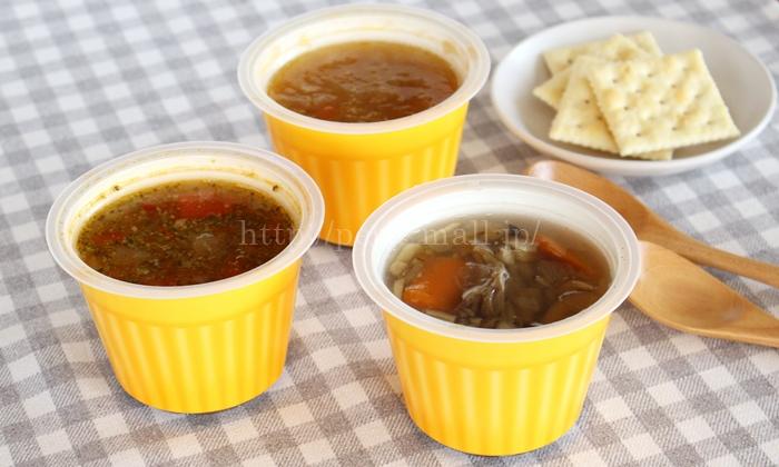 野菜を食べるレンジカップスープ 野菜をMOTTO