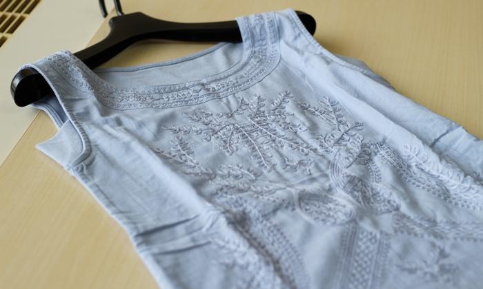 刺繍使い汗取りノースリーブインナー