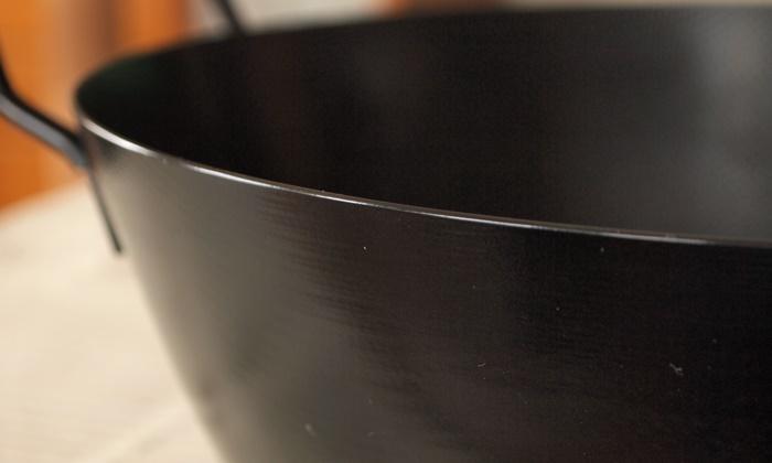 鉄の揚げ鍋 半年後の側面の様子