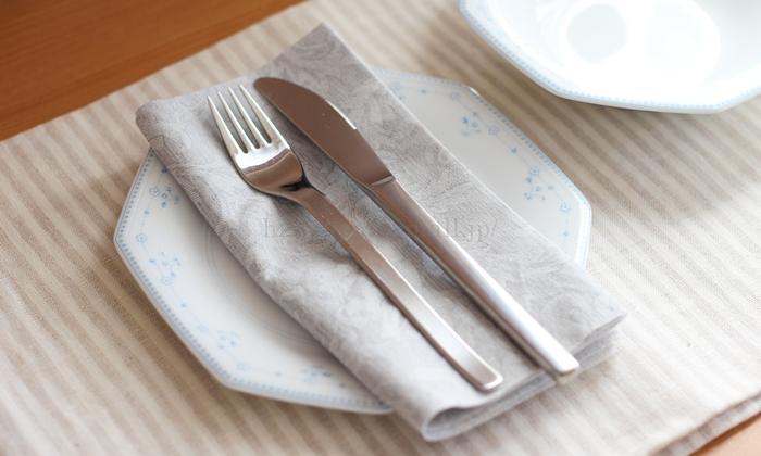 The napkin 布のようなペーパーナプキン プレミアムナプキン フローラルライン テーブルコーディネート
