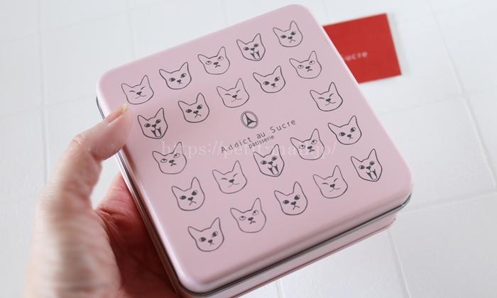 アディクトオシュクル バレンタイン猫缶クッキーの大きさ